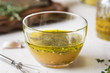 Homemade Vinaigrette with herb