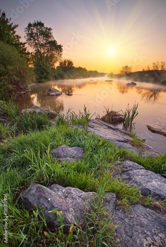 Foto auf Gartenposter Fluss Kalmius river