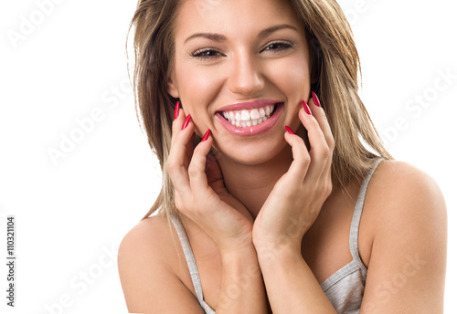 Fototapeta Beautiful smiling woman obraz na płótnie