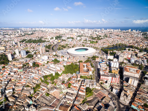 obraz lub plakat Aerial view of Salvador City in Bahia, Brazil