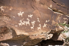 Ute Petroglyphs In Arches National Park, Utah