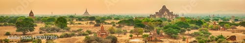Photo  View from the Shwesandaw pagoda. Panorama