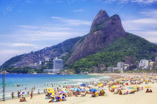 plakat Ipanema Beach in Rio de Janeiro, Brazil.