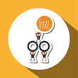 Project design. Businessman icon. Infographic concept