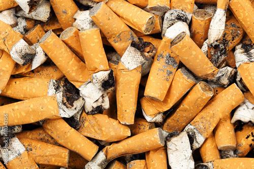 Photo  cigarette butts