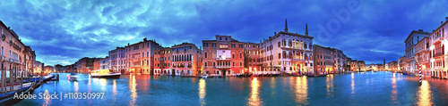 Spoed Foto op Canvas Venetie Grand Canal panorama, Venice, Italy