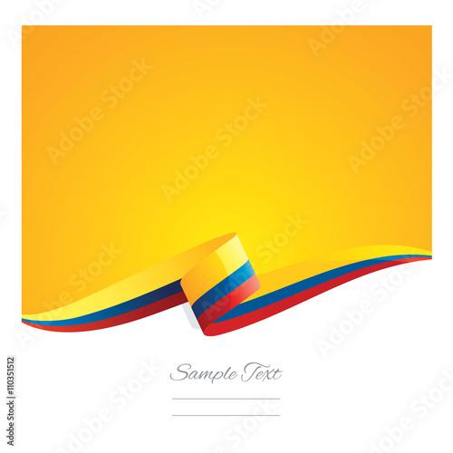 Fotografía  New abstract Colombia flag ribbon