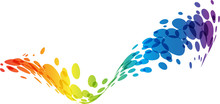 Rainbow Abstract Wave Background