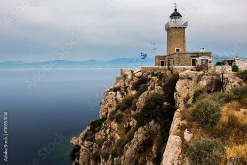 Valokuva  The Melagavi lighthouse near Loutraki (Greece)
