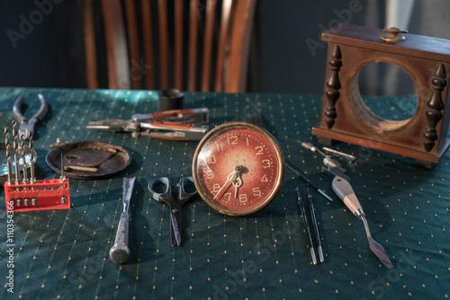 Old Clock Repair Tools This