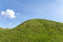 Covered With Green Grass Hill ...