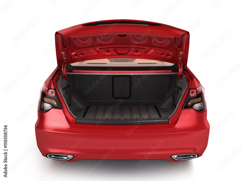 Fototapety, obrazy: empty open trunk of a car 3d render