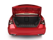 Empty Open Trunk Of A Car 3d R...