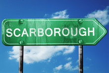Scarborough, 3D Rendering, A Vintage Green Direction Sign