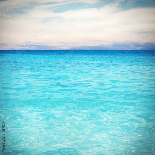 Poster Turquoise Sea background