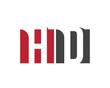 HD red square letter logo for data, developer, design, department, delivery, digital