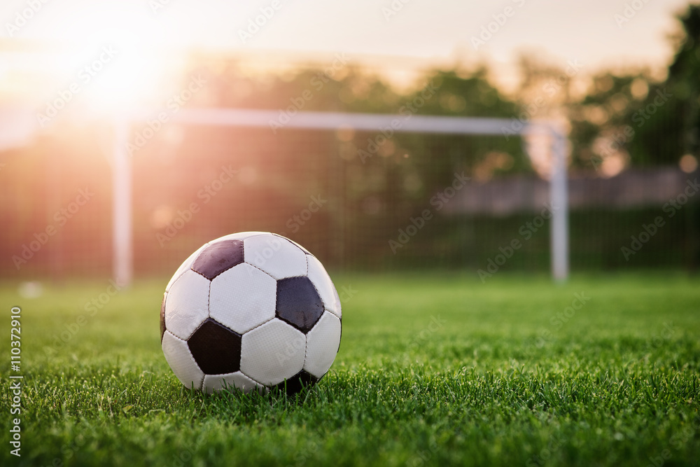Fototapety, obrazy: Soccer sunset / Football in the sunset