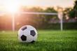 Leinwandbild Motiv Soccer sunset / Football in the sunset