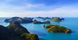 canvas print picture Bird eye view of Angthong national marine park, koh Samui, Thail