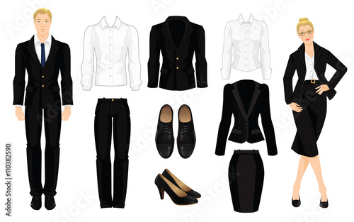 Vector illustration of corporate dress code Fototapeta