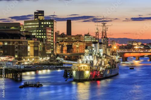 Fotografie, Obraz The famous HMS Belfast