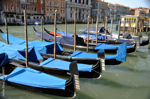 gondolas lined up