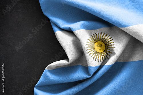 Fotografie, Tablou  Flag of Argentina on blackboard background