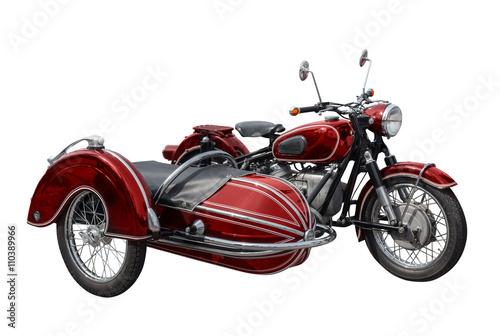 altes oldtimer motorrad mit seitenwagen
