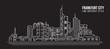 Cityscape Building Line art Vector Illustration design - frankfurt city