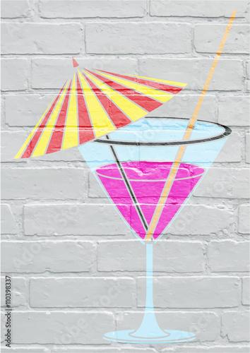 Photo Art urbain, cocktail