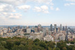 Landscape view of Montreal city during autumn sunny day