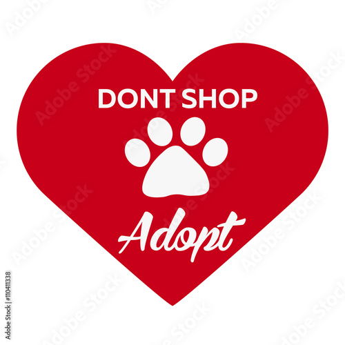 Adopt logo Canvas Print