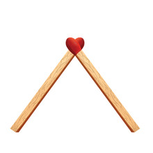 Heart Matches For Your Design, Wooden Matches