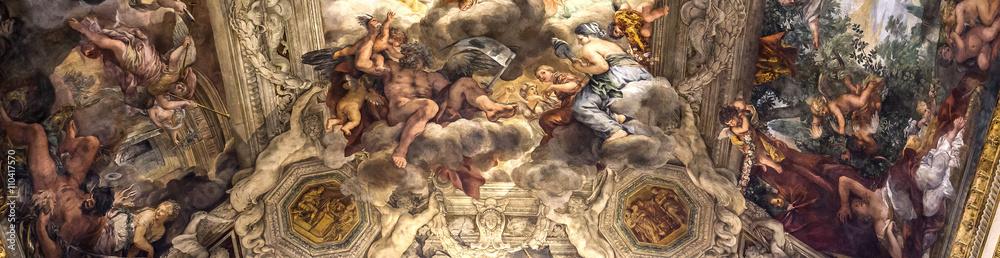 Fototapety, obrazy: Ceiling fresco in Palazzo Barberini, Rome, Italy