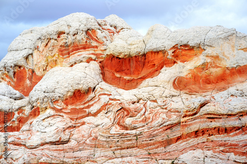 Foto op Canvas Baksteen Amazing colors and shapes of sandstone formations in White Pocket, Arizona