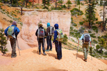 Group Of Hikers Admiring A Vie...
