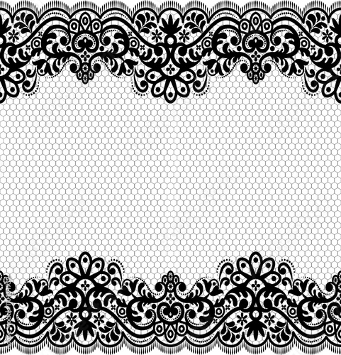 Fotografia, Obraz  Seamless lace pattern, flower vintage vector background.