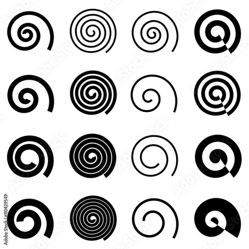 Obraz Spiral elements for your design, isolated vector elements - fototapety do salonu