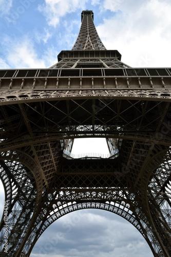 Les dessous de la tour Eiffel de Paris Poster