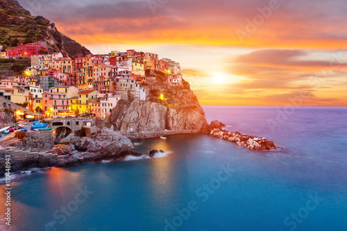 Fotografia, Obraz  Old village Manarola, coast of Italy