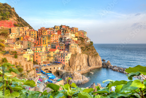 Fototapety, obrazy: Old village Manarola, coast of Italy