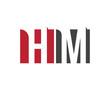 HM red square letter logo for management, media, multimedia, magazine, marketing, master