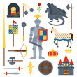 knight symbols vector illustration.