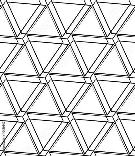 Grid, mesh seamless monochrome pattern. Intersecting lines. Wall mural