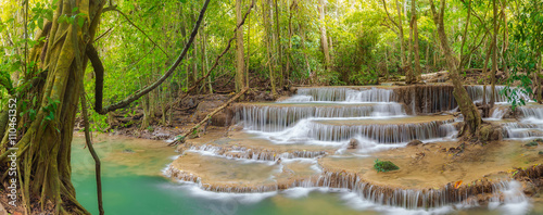 Aluminium Prints Waterfalls Huai Mae Kamin waterfall