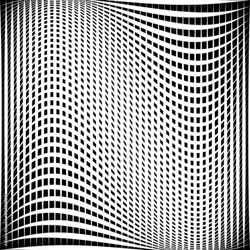 Fotografie, Obraz  Distorted abstract grid, mesh background, intersecting lines