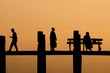 U Bein Bridge silhouette