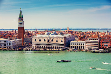 Fototapeta Panoramic view of Venice Italy