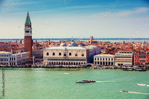 Panoramic view of Venice Italy - 110477361