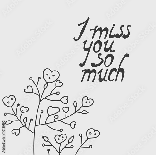 I Miss You So Much Buy This Stock Vector And Explore Similar